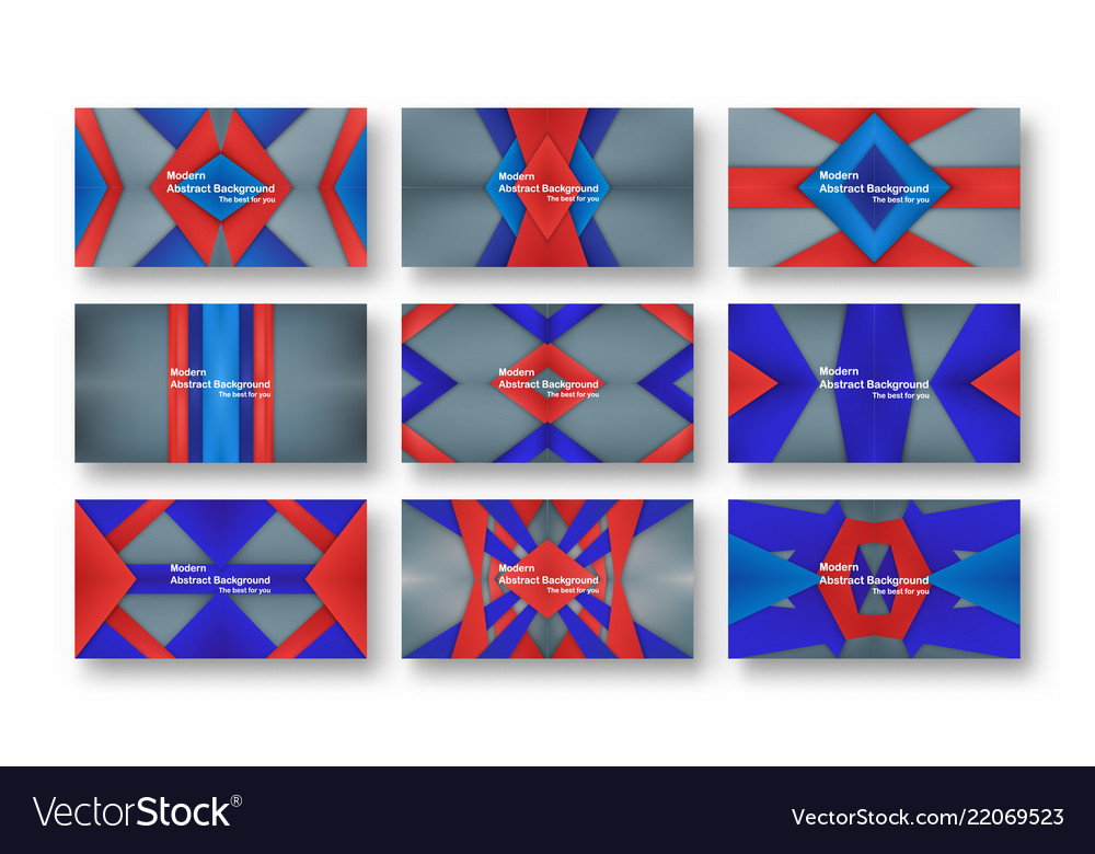 Abstract red and blue material design on grey