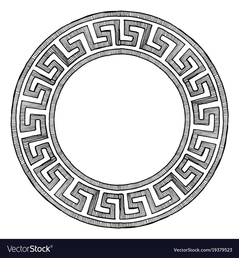 Ancient greek round ornament