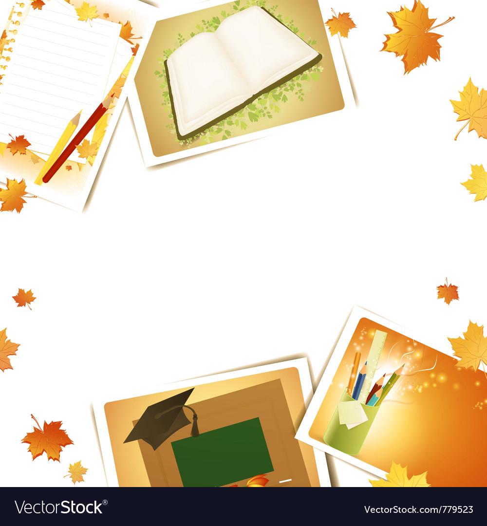 Education frame vector image
