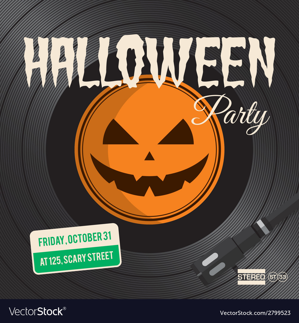 halloween party vinyl royalty free vector image