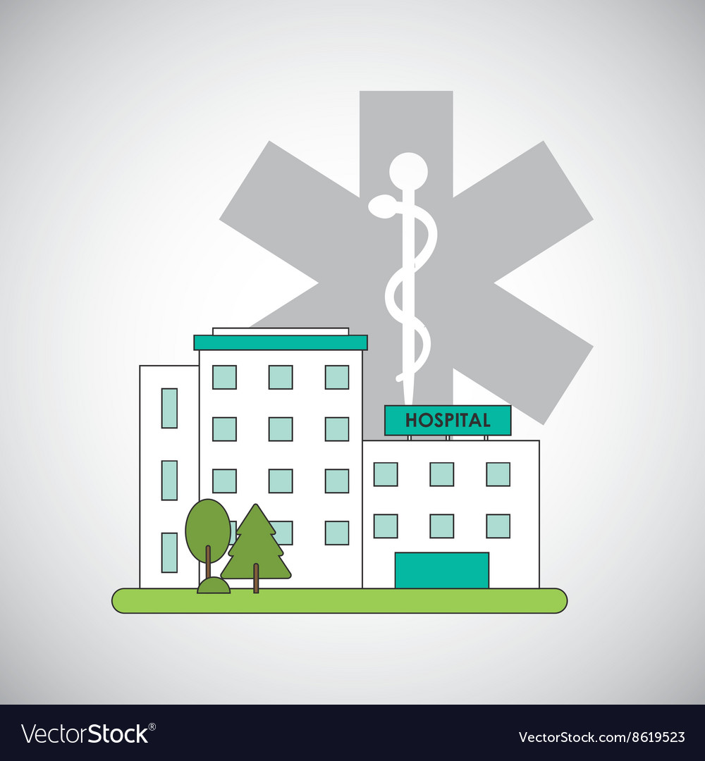 Hospital design Healthy center emergency concept vector image on VectorStock