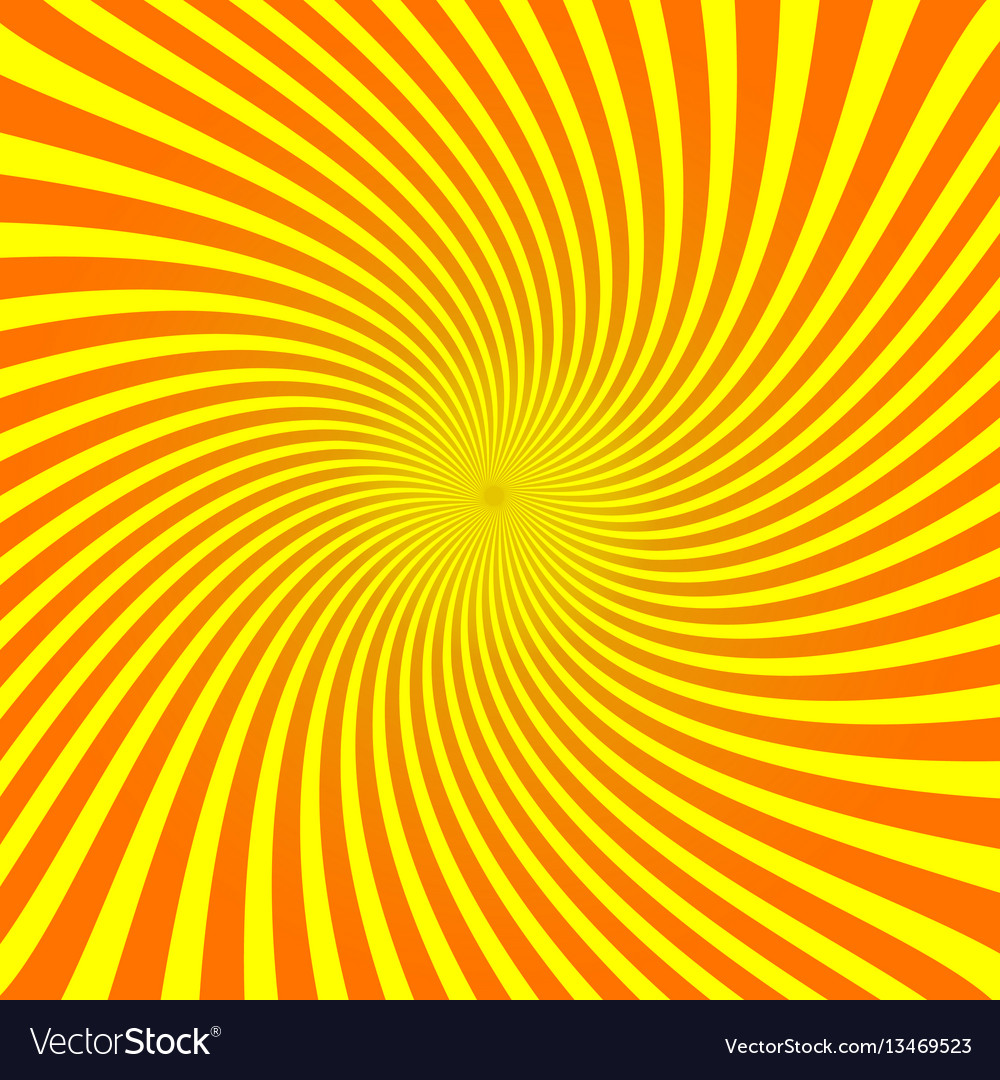 Rays on yellow background