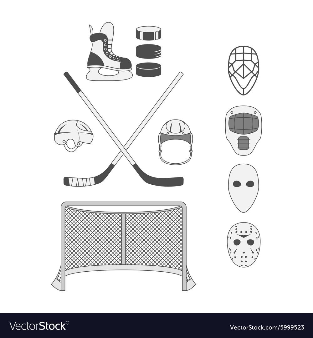 Set of Hockey Elements