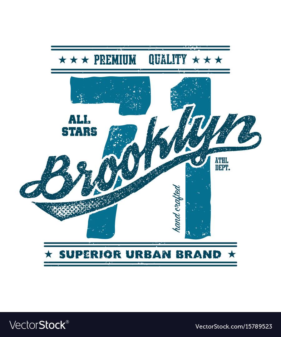 Vintage brooklyn typography t-shirt graphics