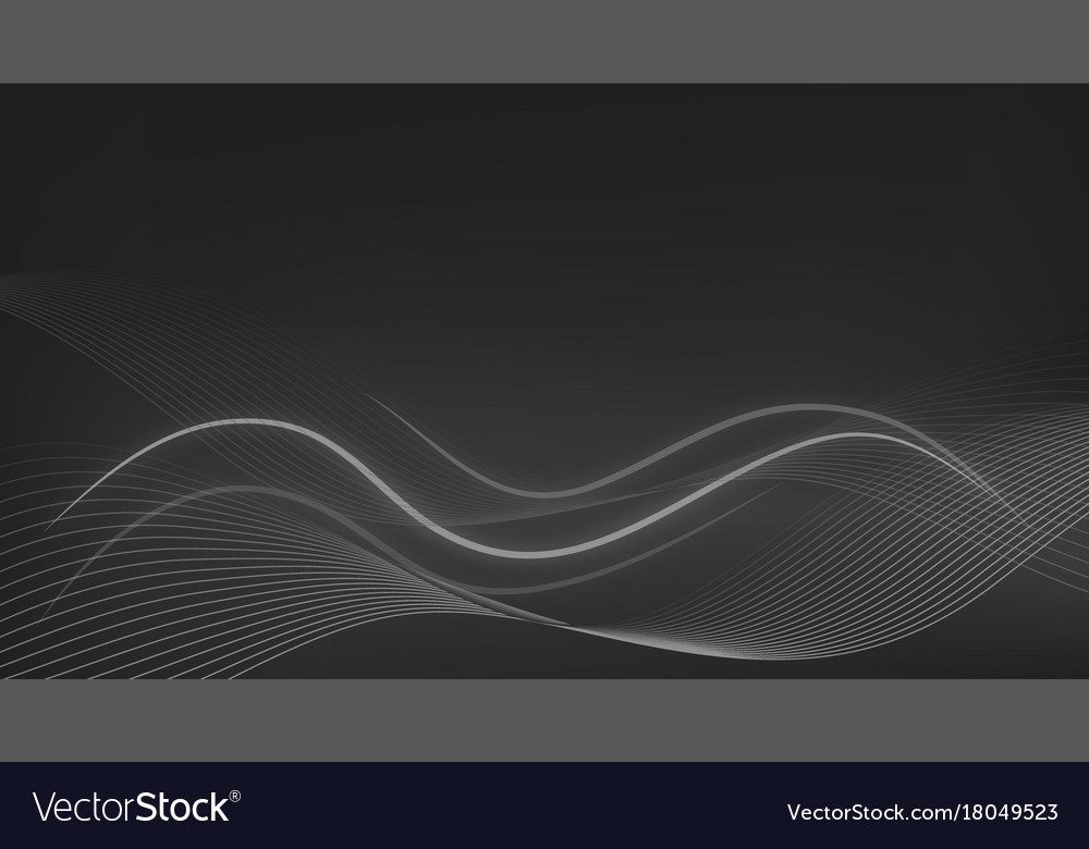 Wallpaper Theme With Wavy Lines On Gray Background