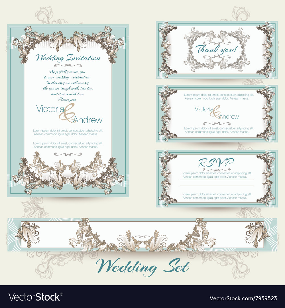 Wedding collection in mint color