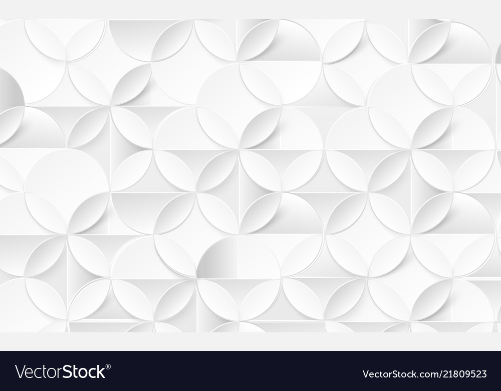 White abstract pattern modern geometric background