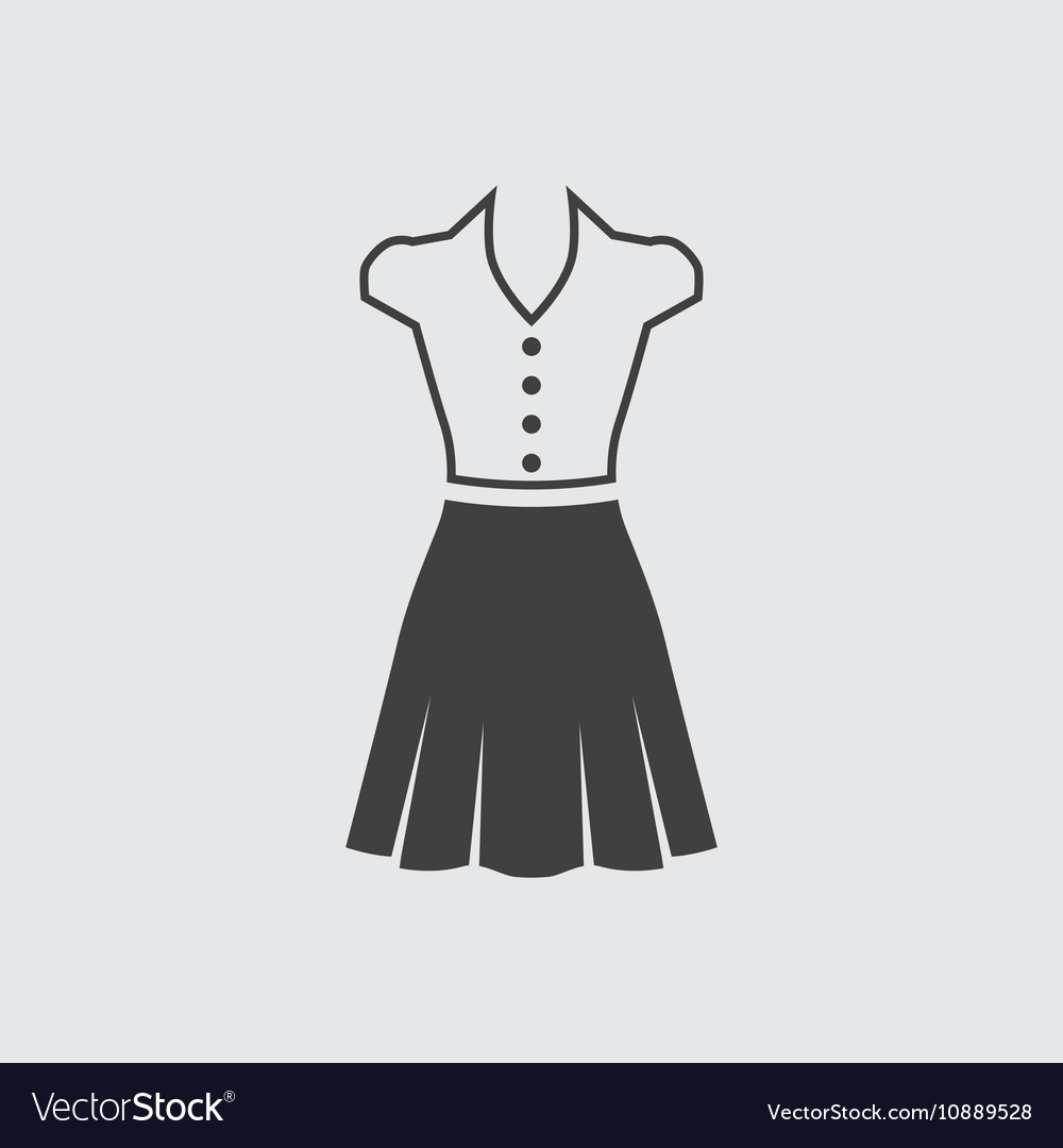 Blouse and skirt icon