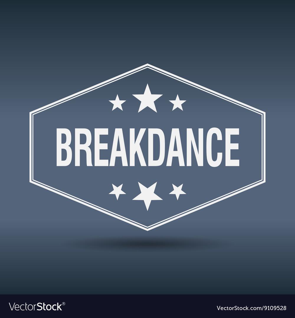Breakdance hexagonal white vintage retro style