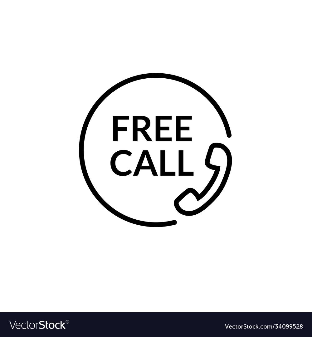 Free call line icon phone call care