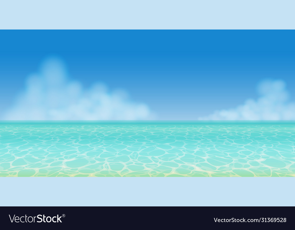Panoramic summer sea water