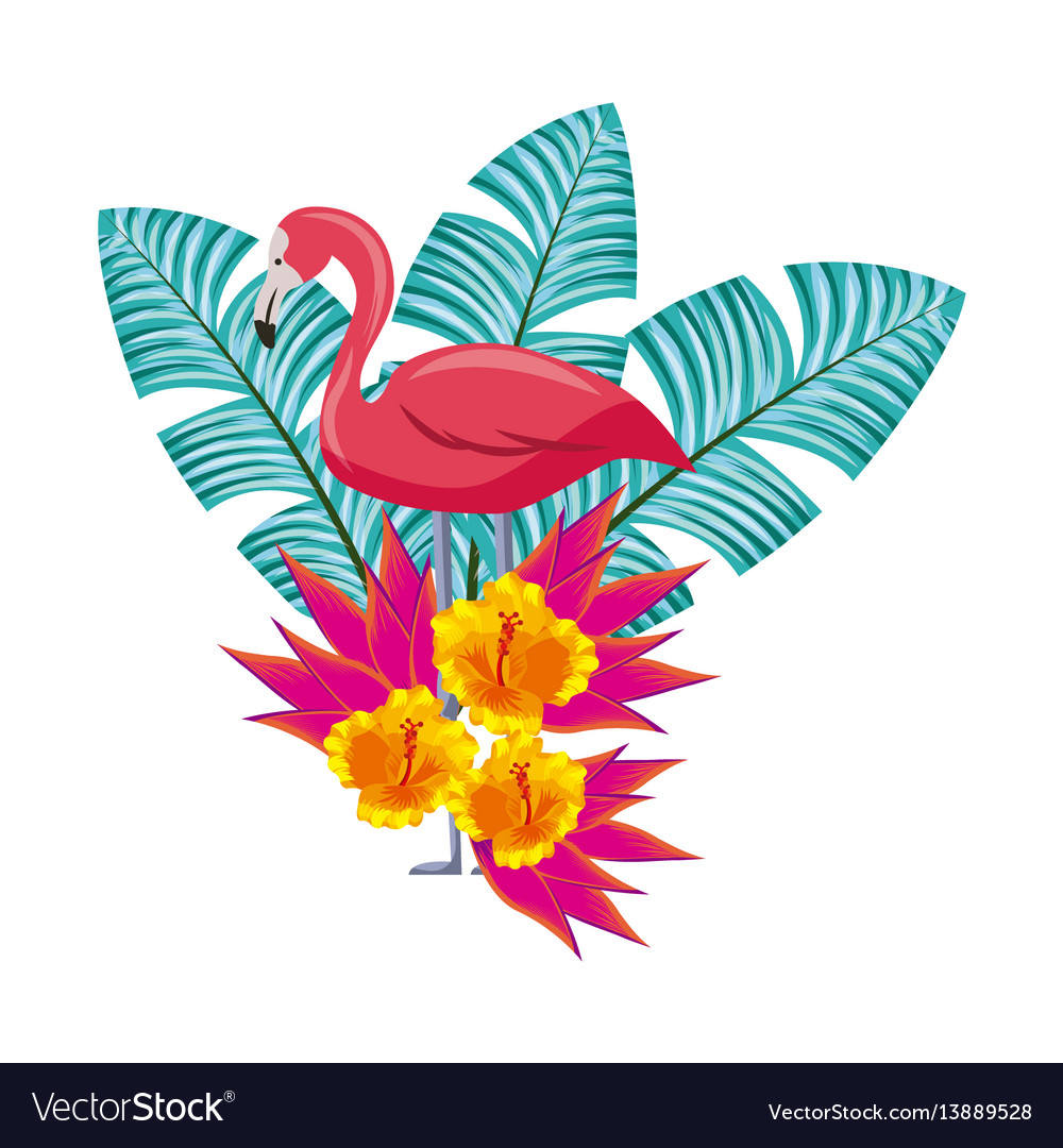 Tropical Flowers Design Royalty Free Vector Image
