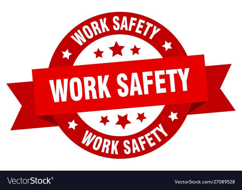 Work safety ribbon work safety round red sign