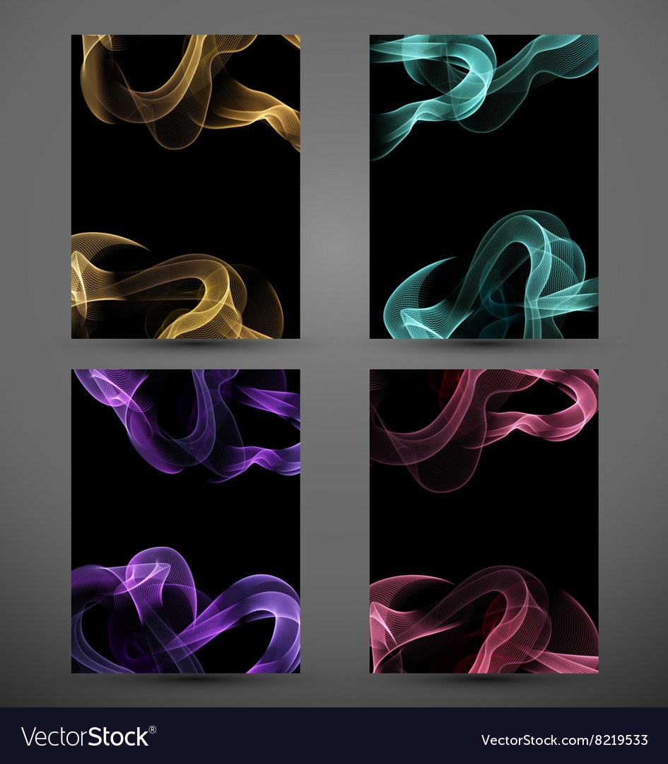 Abstract colorful lines for your design vector image