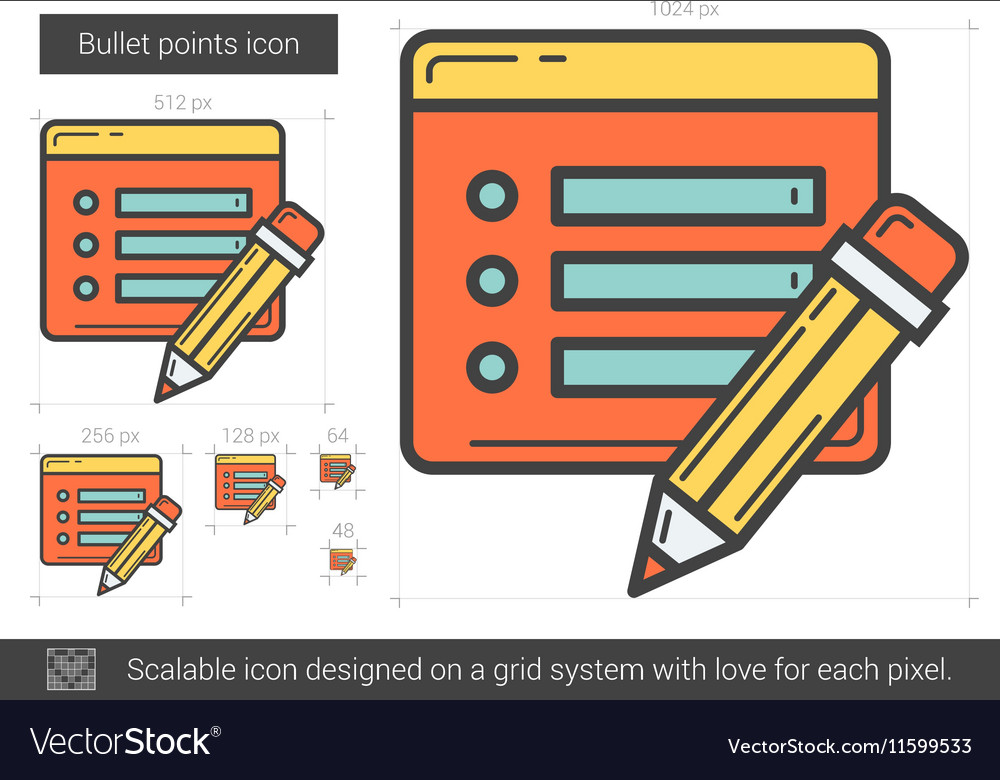 Bullet points line icon