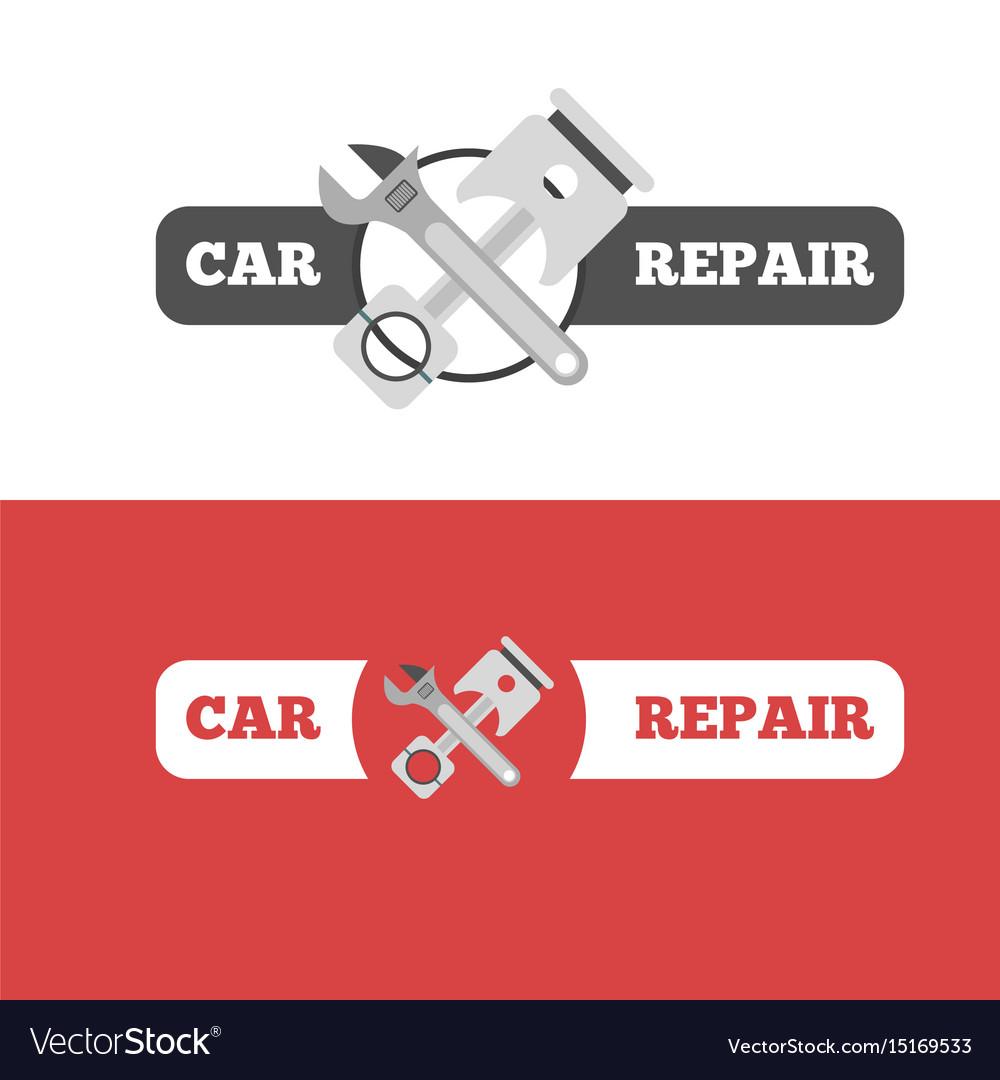 Car repair service branding