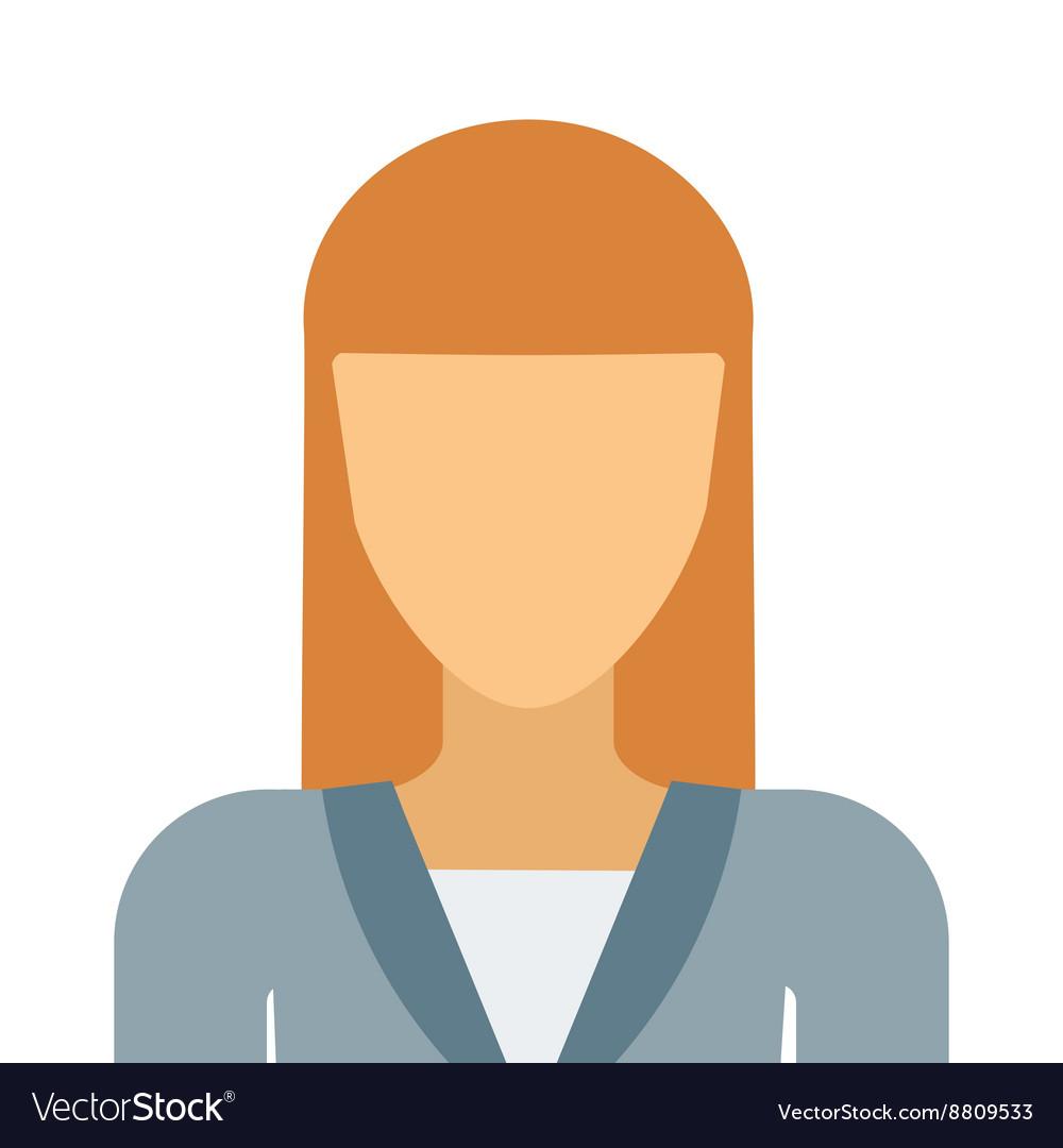 Flat avatar face character person portrait