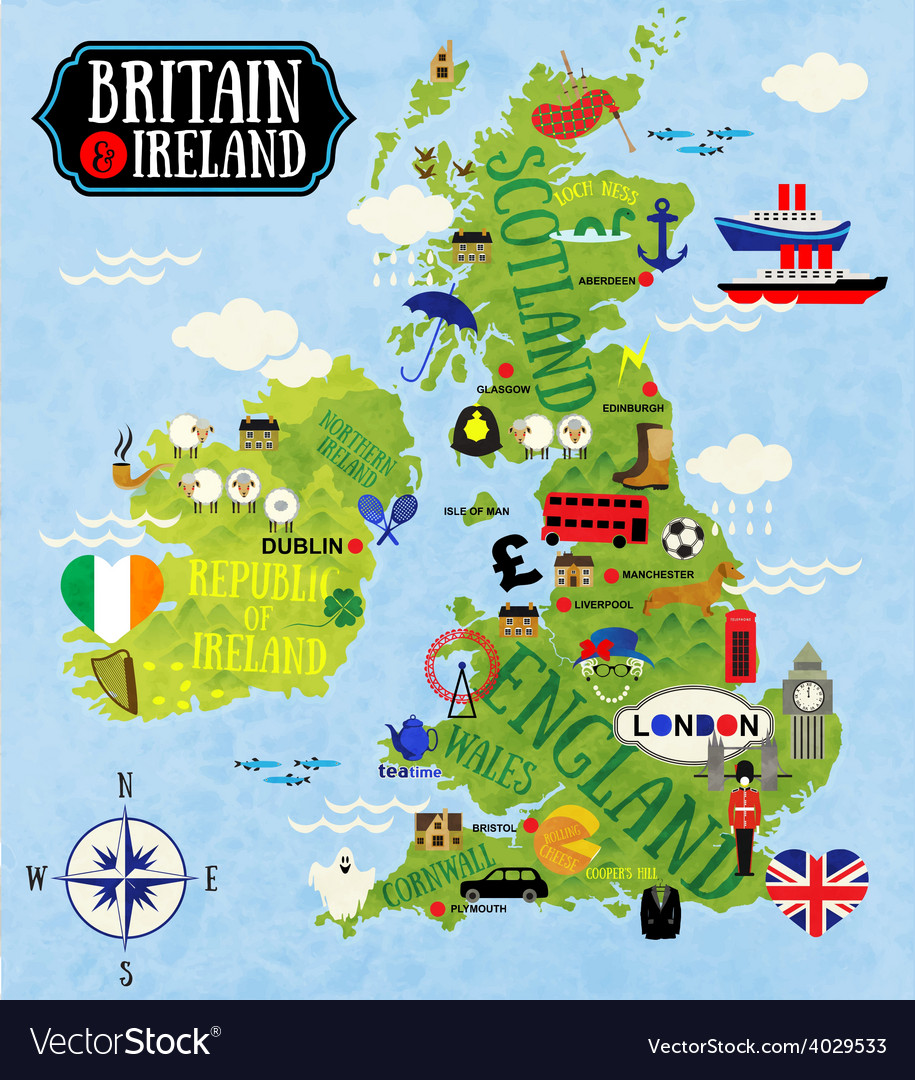 Map Of Ireland And Britain.Maps Of Britain And Ireland