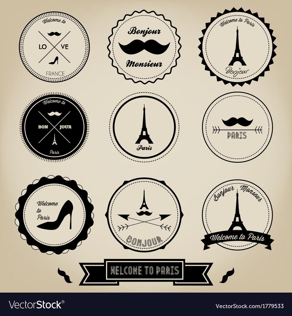 Paris France Vintage Label