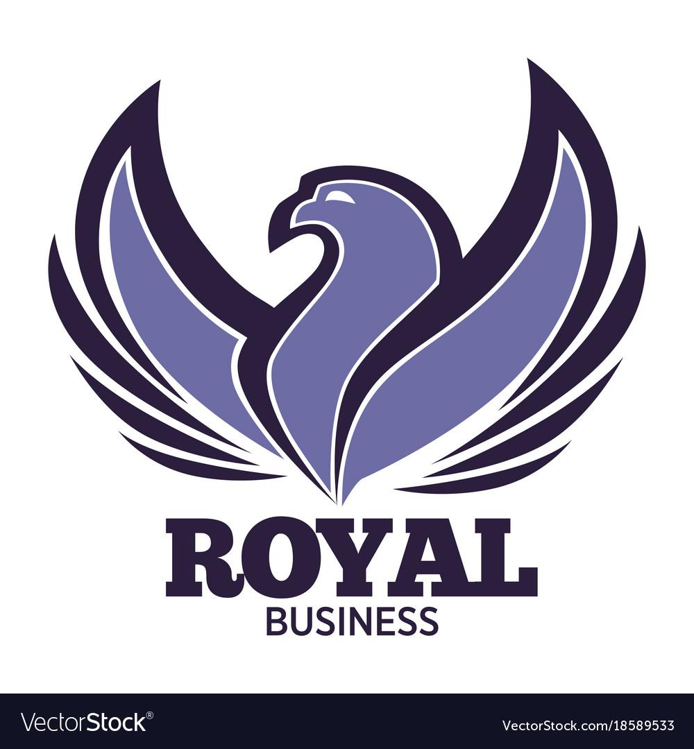 Phoenix bird or fantasy eagle logo template for
