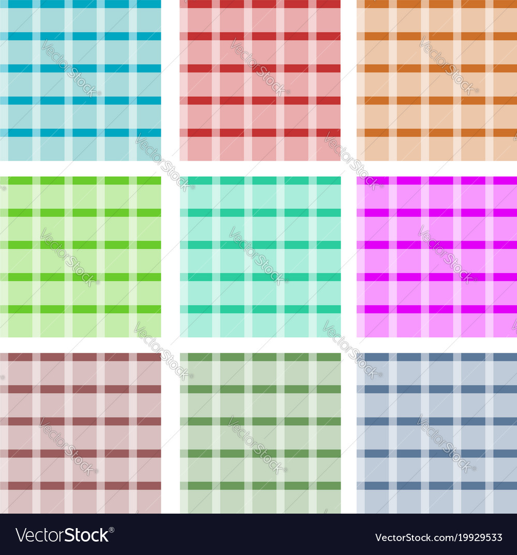 Set checkered seamless patterns