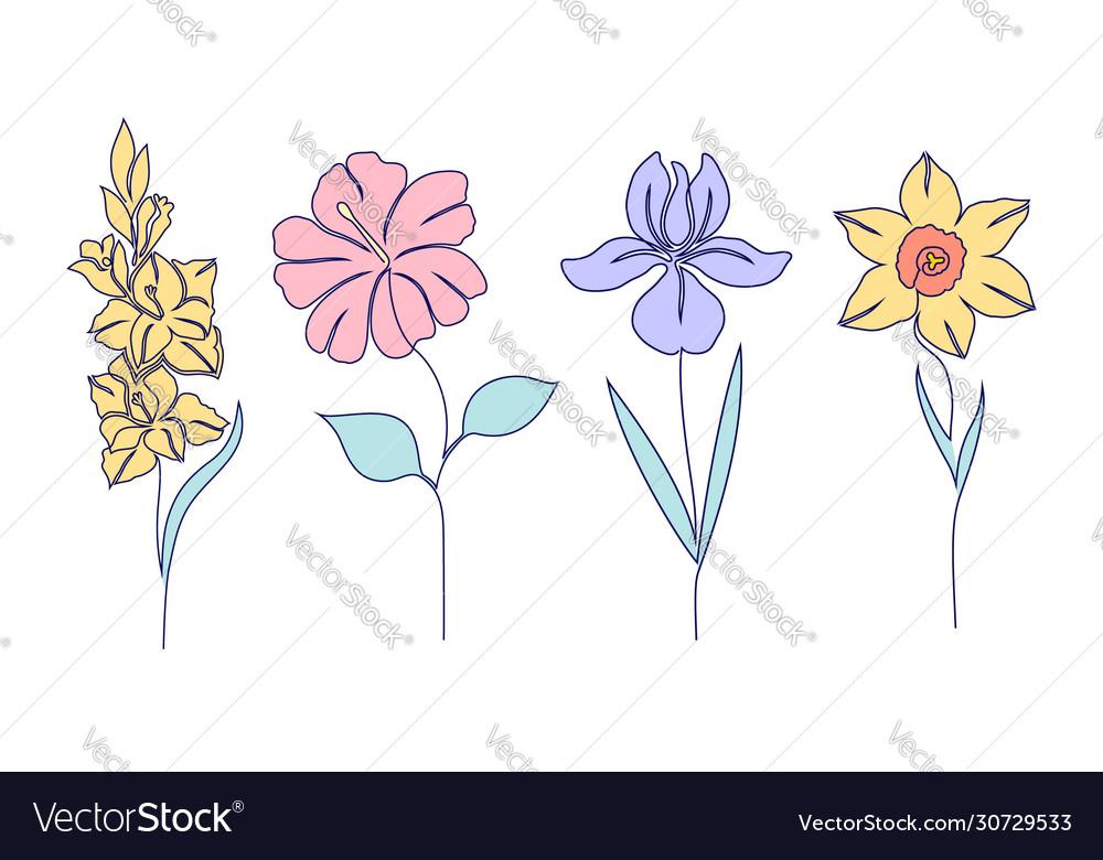 Set flowers