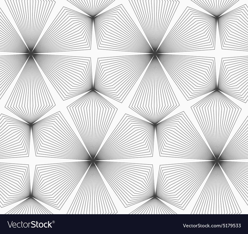 Slim gray linear stripes rhombus trefoils vector image