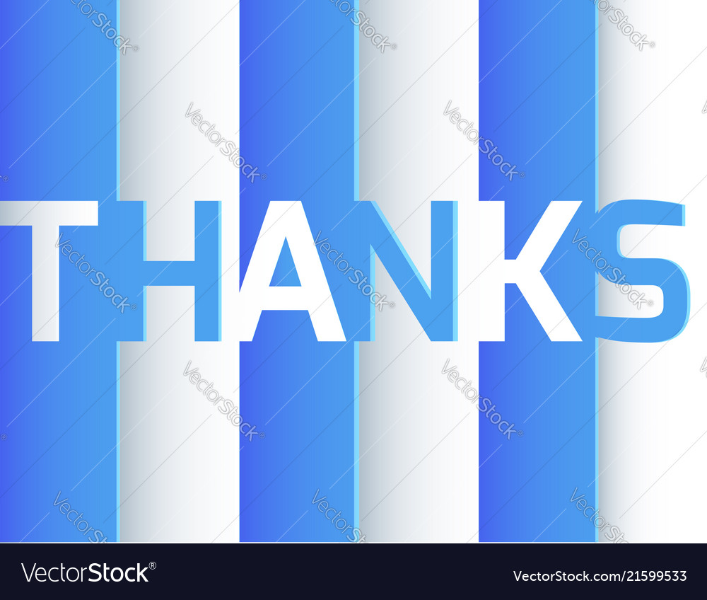 Thank you origami paper layer art blue and white