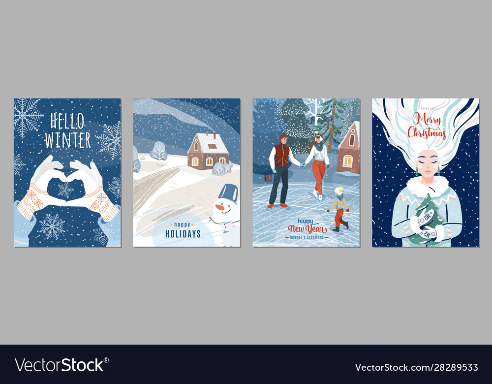 Winter poster background season holiday greetings