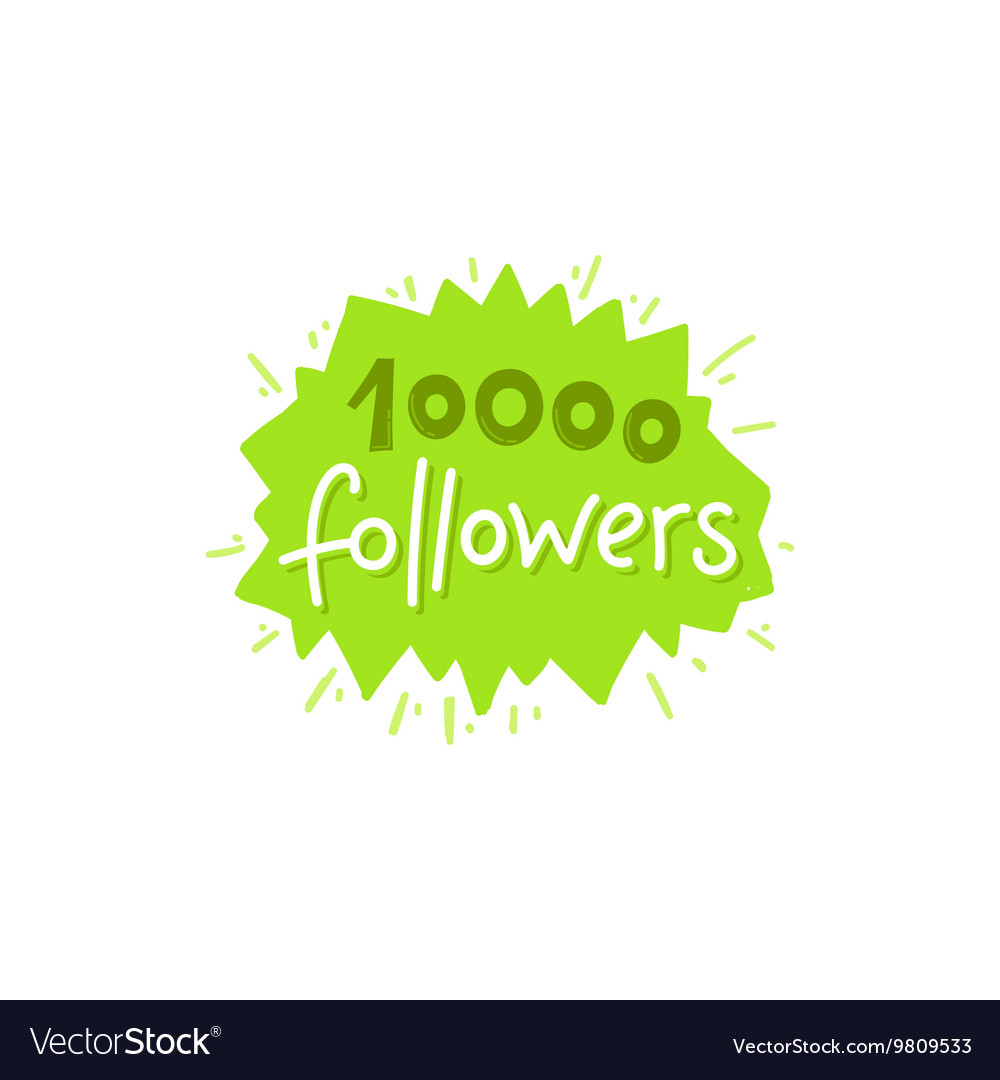 With hand-lettering phrase - 10000 followers
