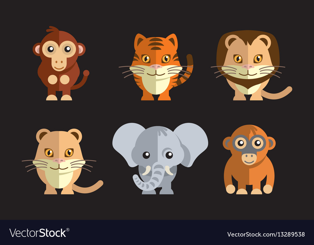A cute exotic wild animals