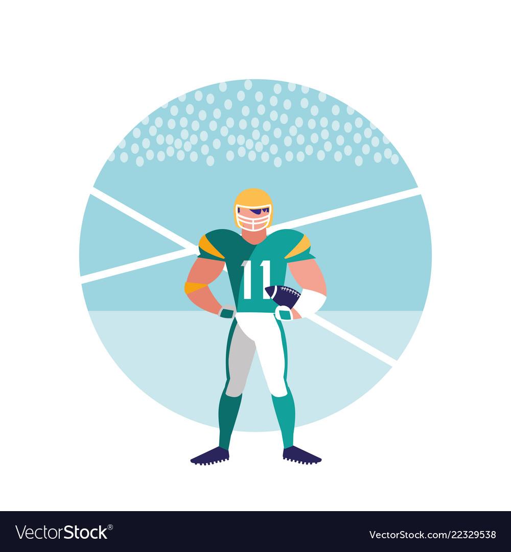 American football player man