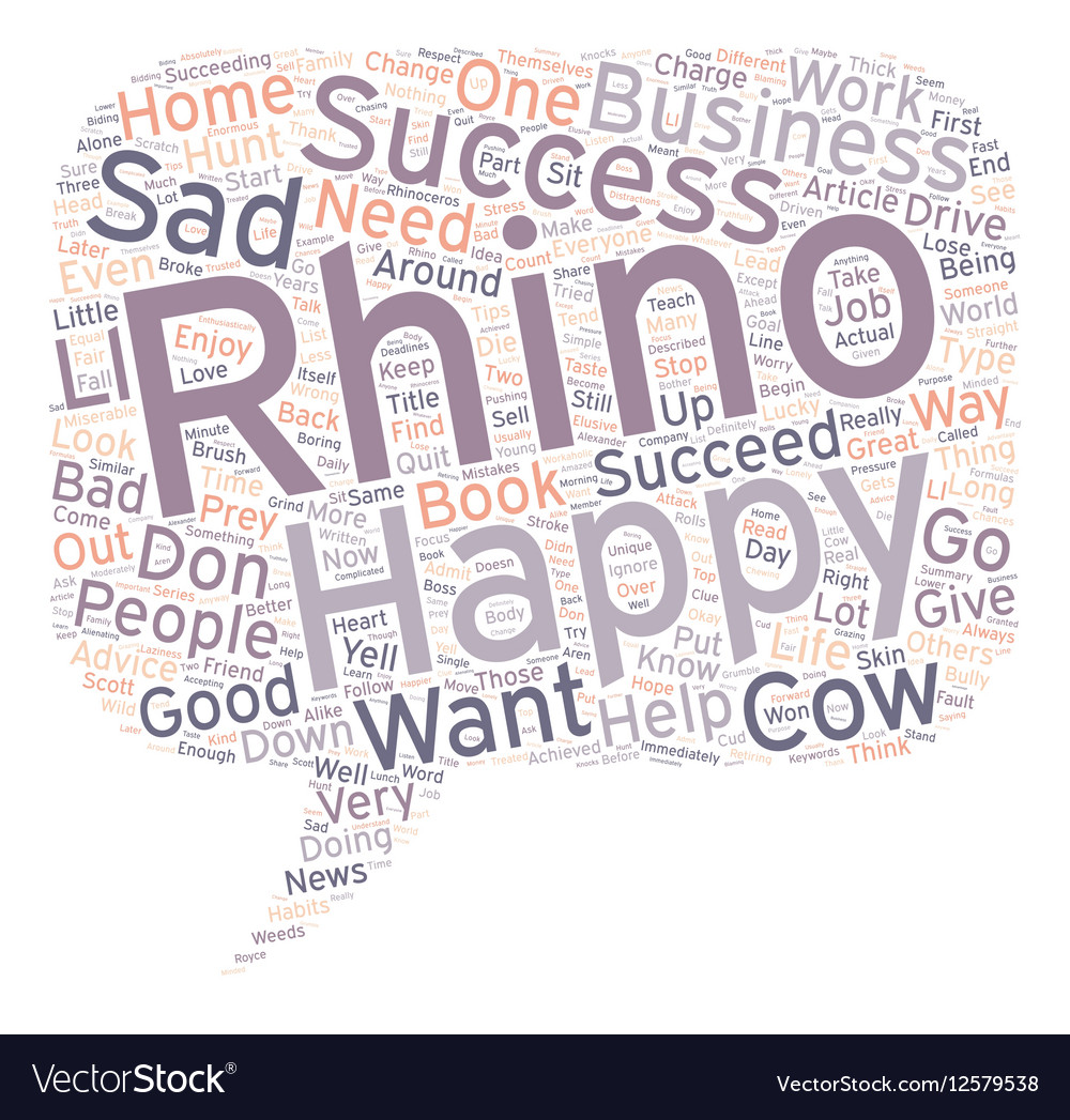 Are you a Rhino or a Cow text background wordcloud