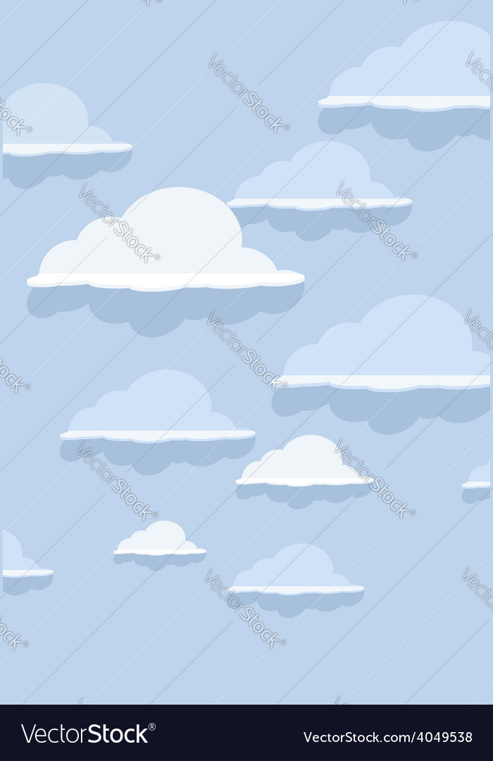 Cloud pattern on blue background