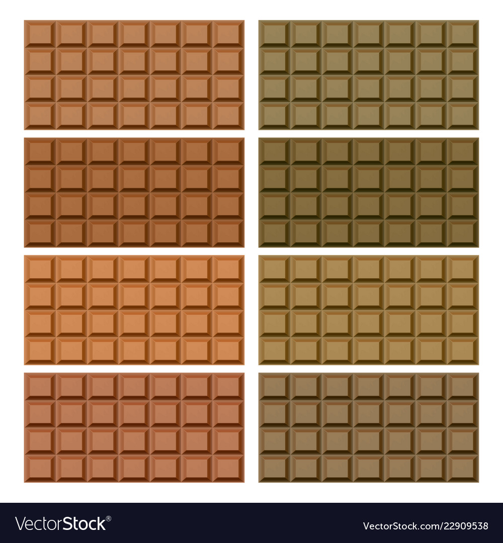 Delicious of chocolate bar on white background