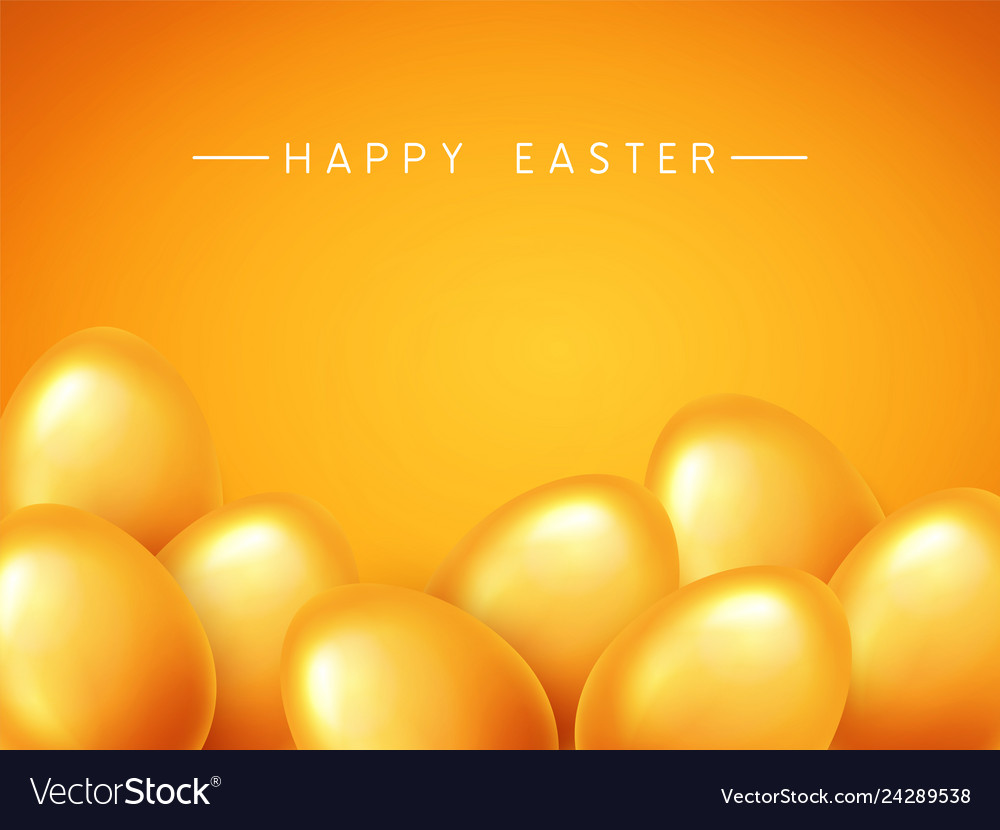 Happy easter banner background template with