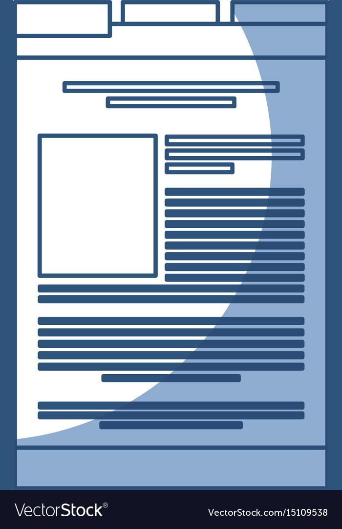 Shadow web tab vector image