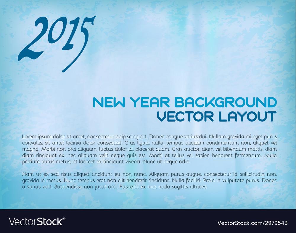 2015 old background blue vector image