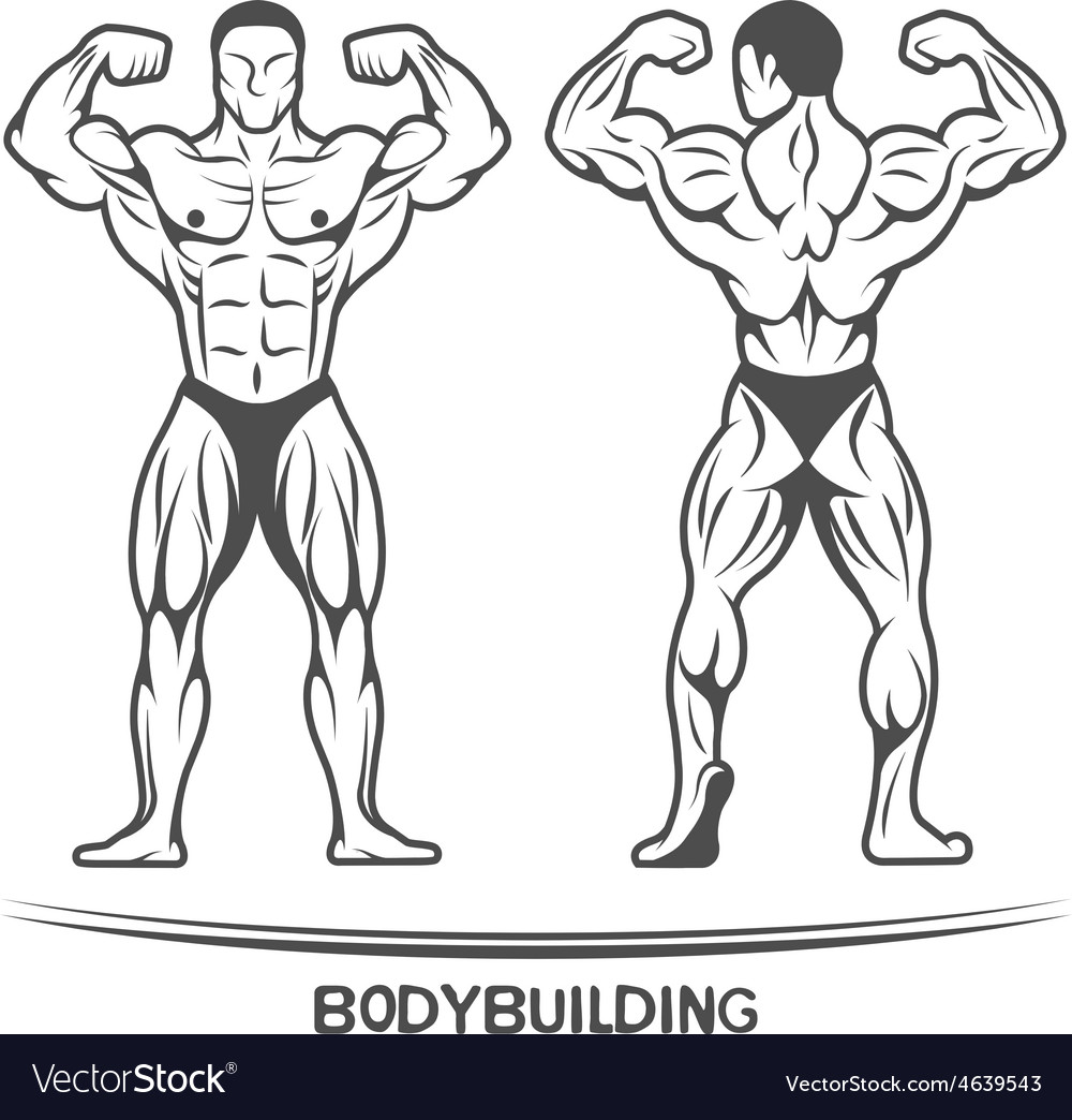Bodybuilder On isolated background