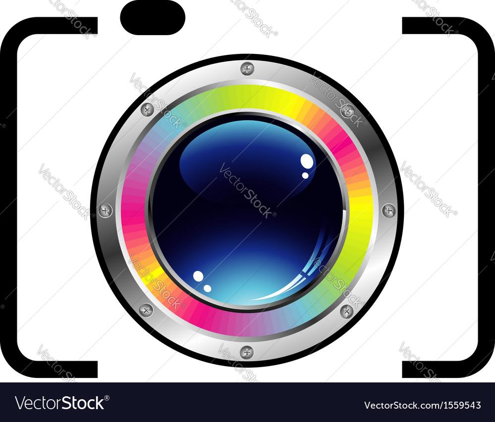 Digital camera vector image