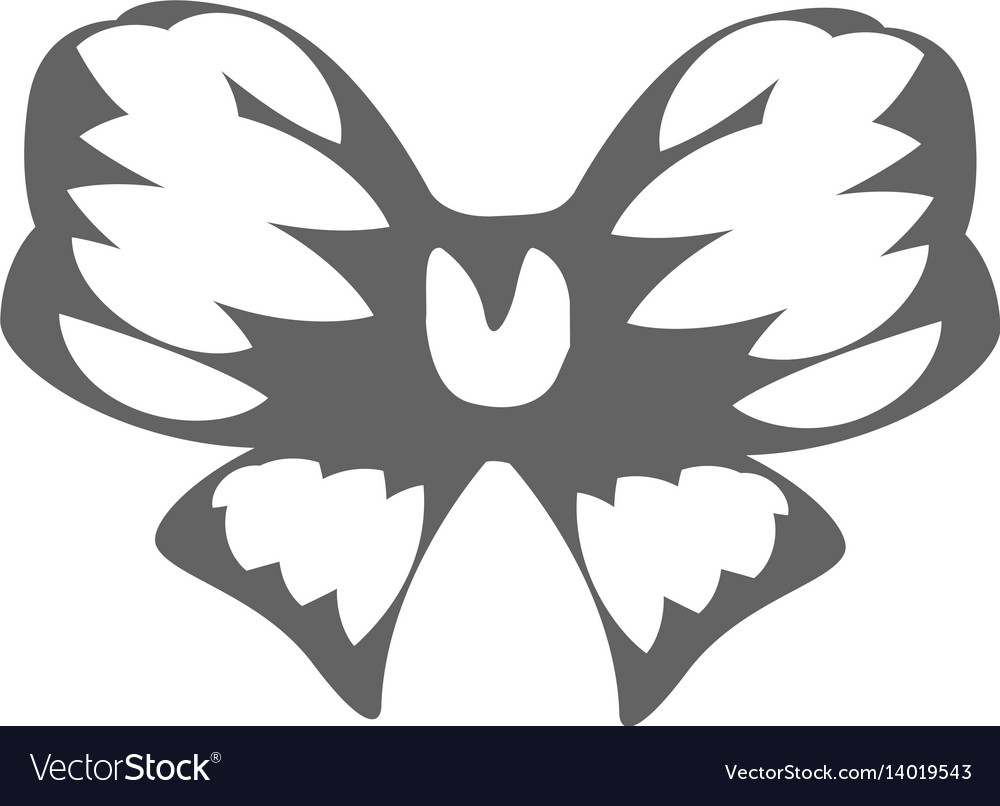 Isolated abstract black and white color bow logo vector image