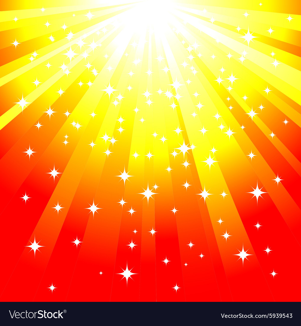 Magic yellow background vector image