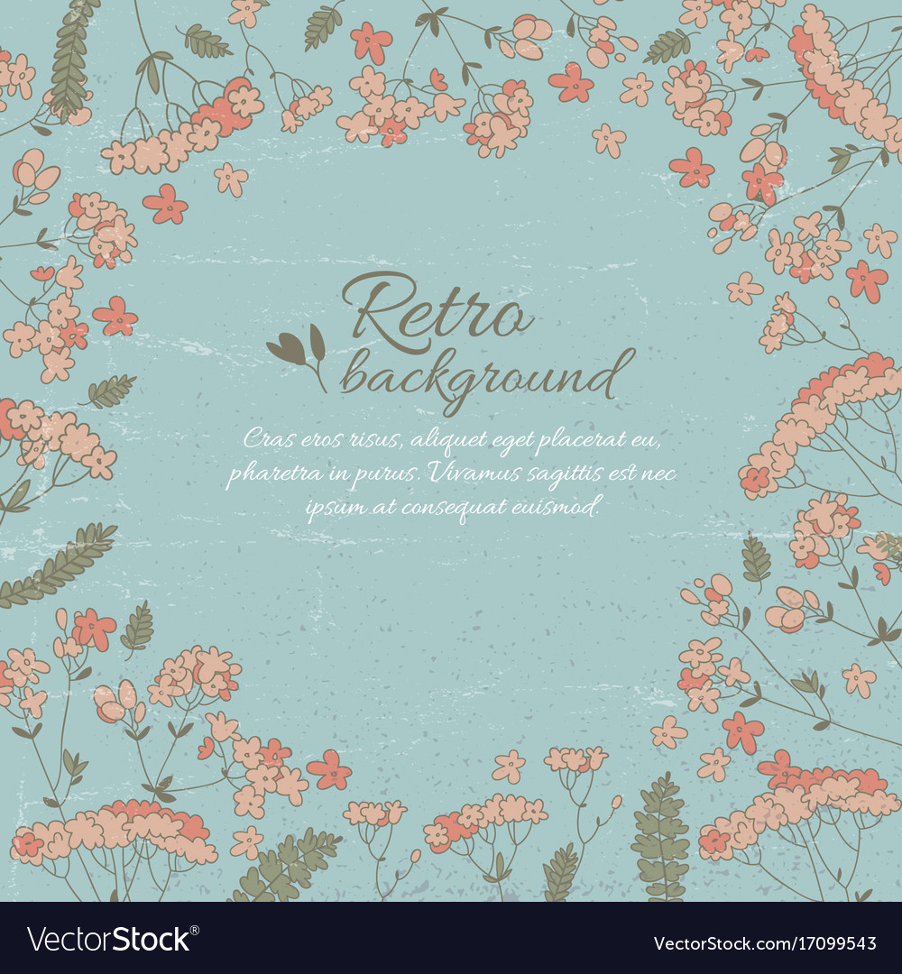 Retro flowery decorative template Royalty Free Vector Image