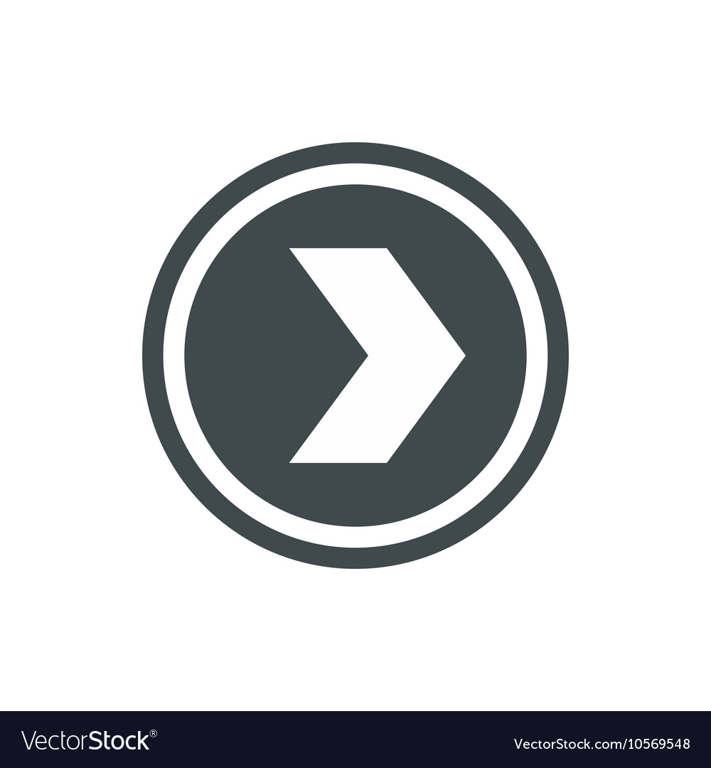 Arrow to right in circle icon flat style