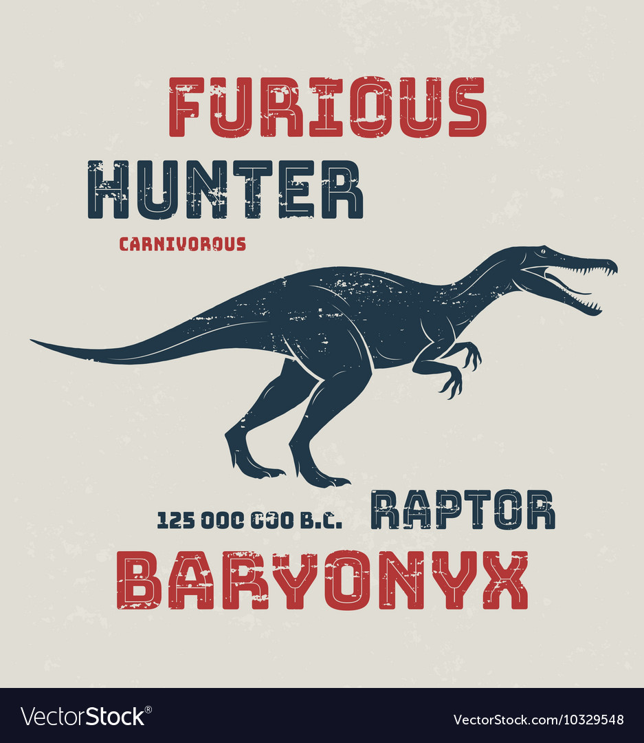 Baryonyx t-shirt design print typography label vector image