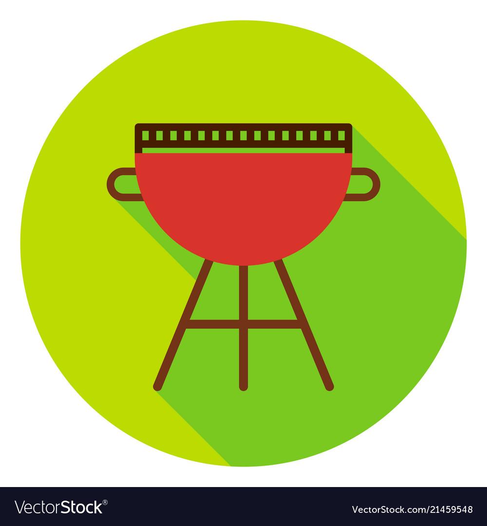 Bbq grill circle icon