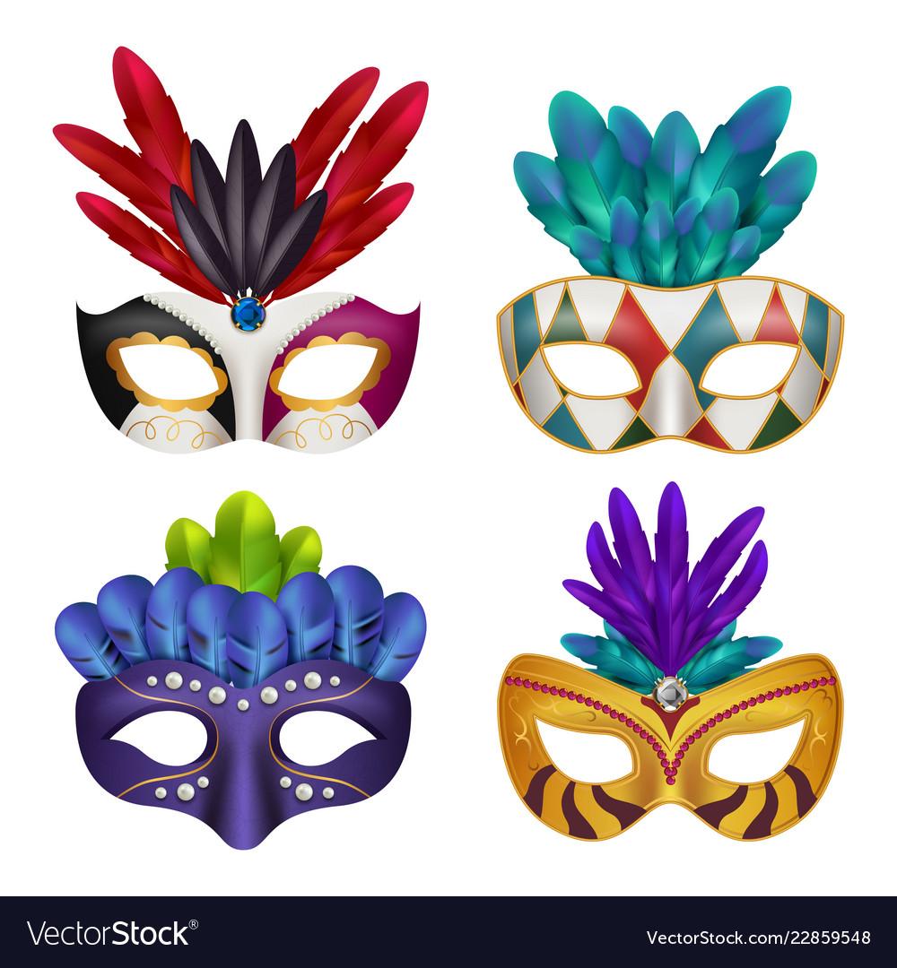 Carnival masks masquerade party celebration