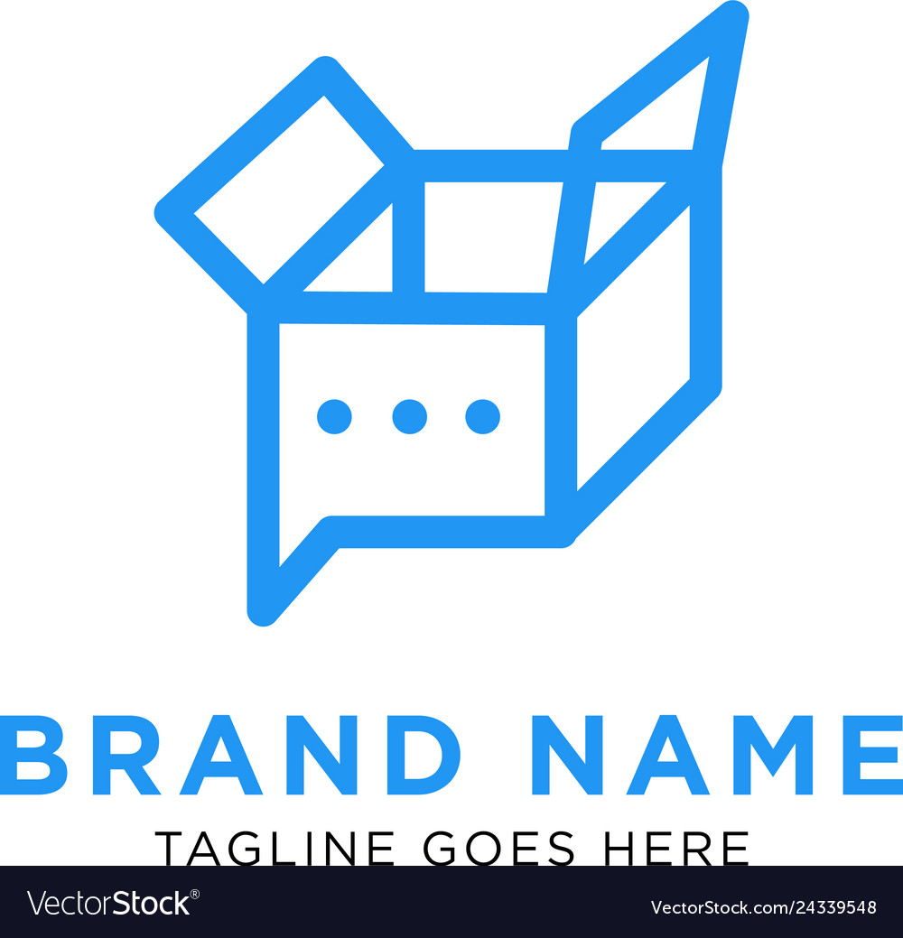 Chat box logo design inspiration