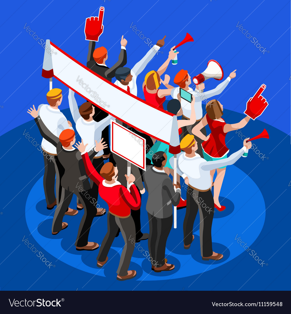 Election Infographic Theatre Audience Isometric vector image
