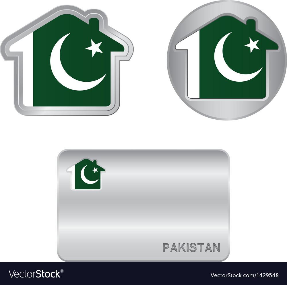 Home icon on the Pakistan flag